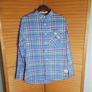 Vintage Nautica Jeans Co. Men's Plaid Button Down